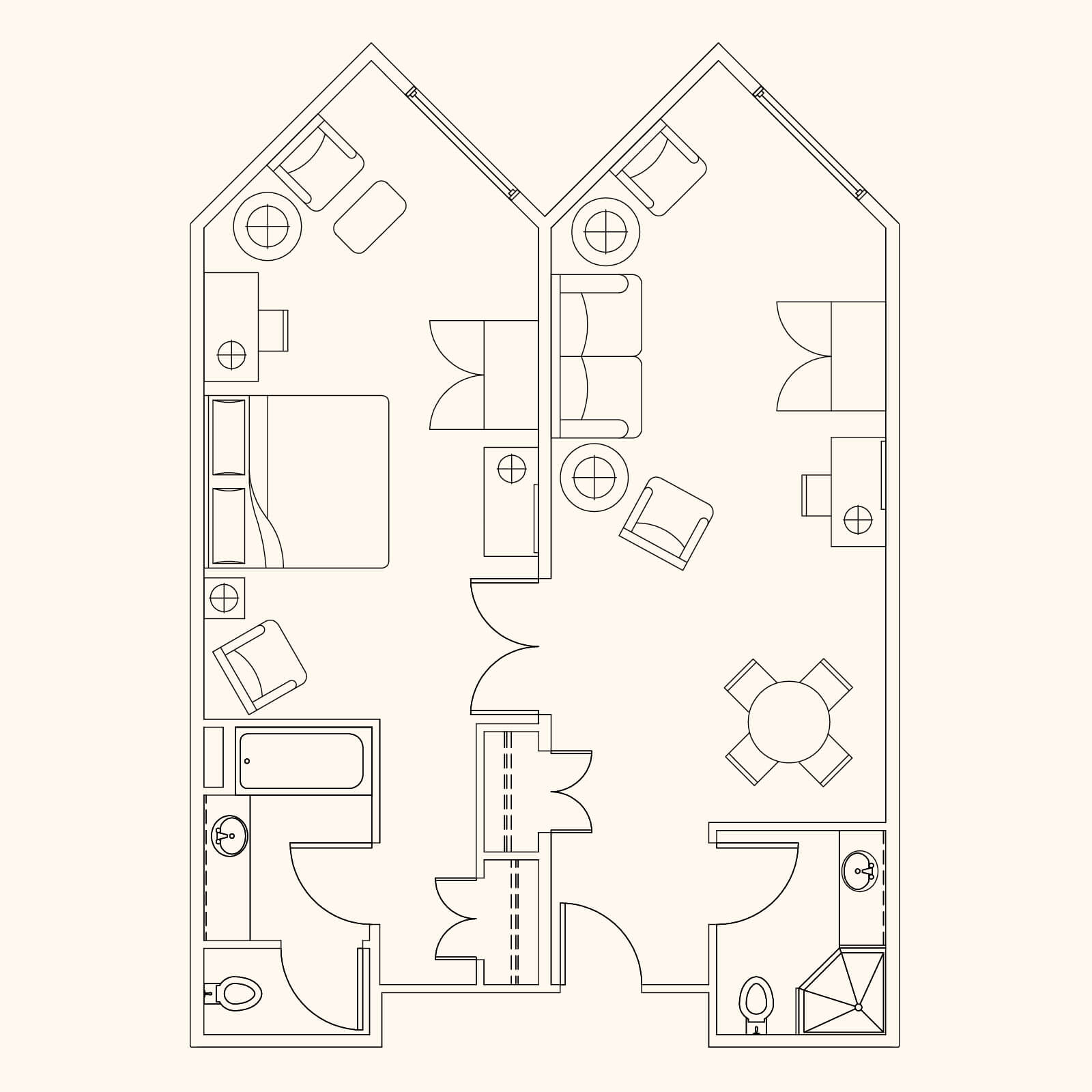 Mt. Lodge VIP Suite Floor Plan