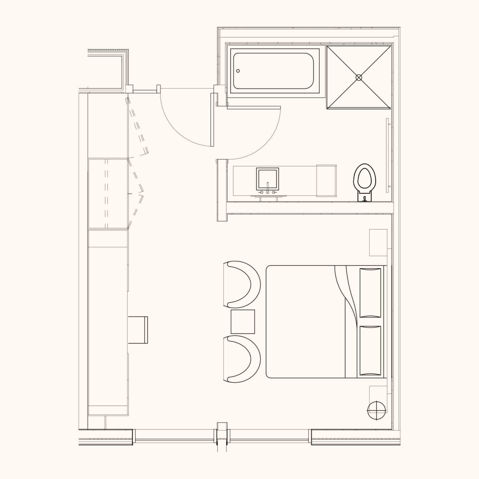 Spa Tower Deluxe Room Floor plan